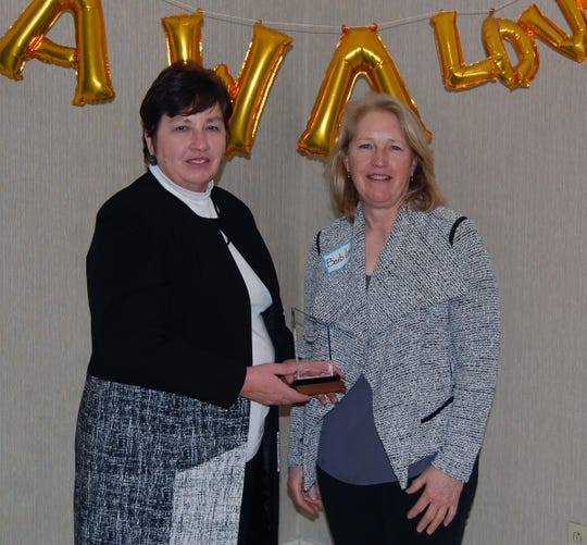 Association of Women in Agriculture alumnus Barb Lee (right) and Maureen DeBruin were recognized this year for the Friend of AWA award.