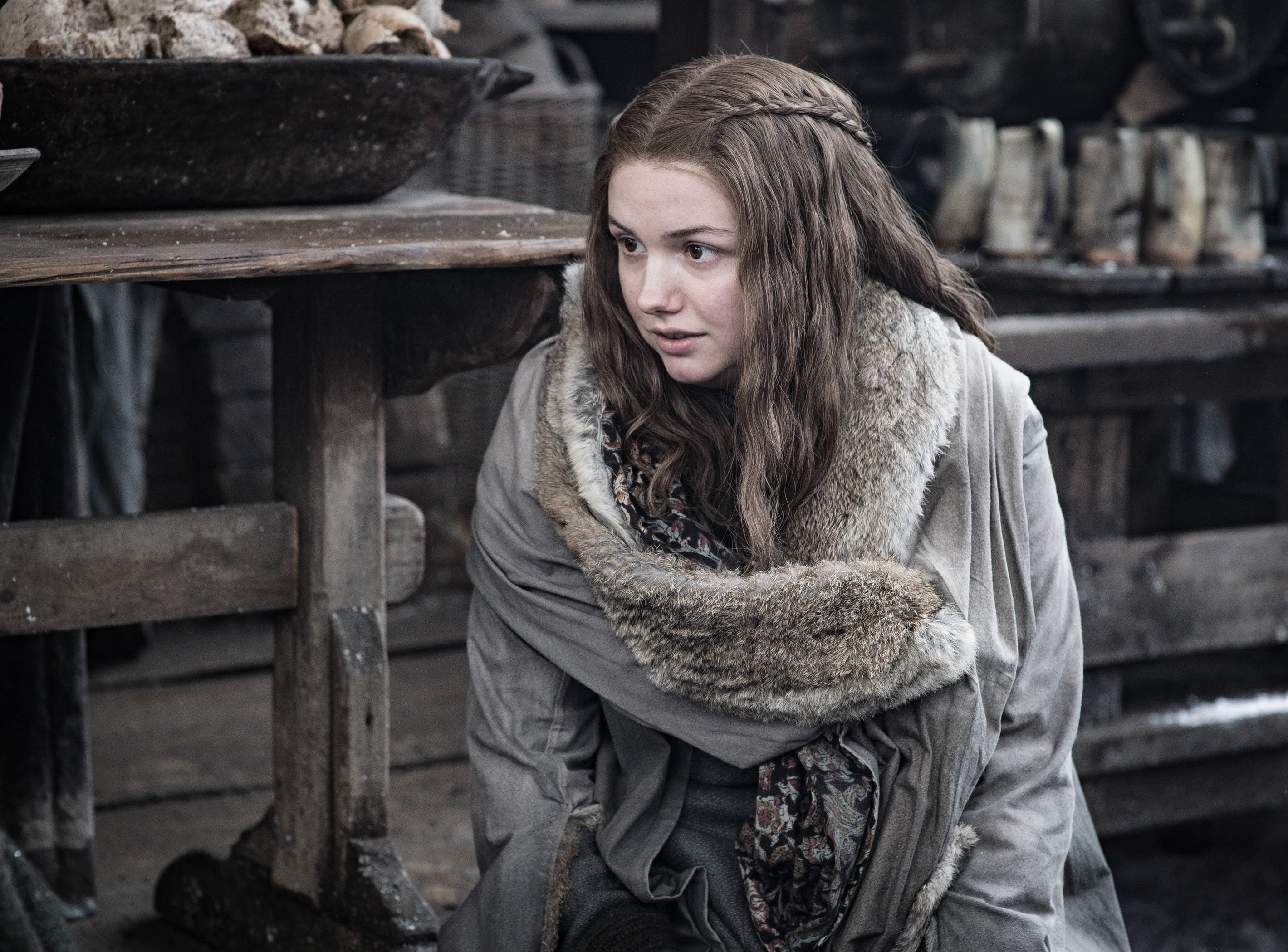 "Hannah Murray as Gilly on ""Game of Thrones."""