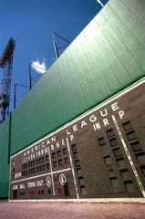 Fenway Park's legendary Green Monster, seen here in 1996, gets a cameo in 1989's 'Field of Dreams.'