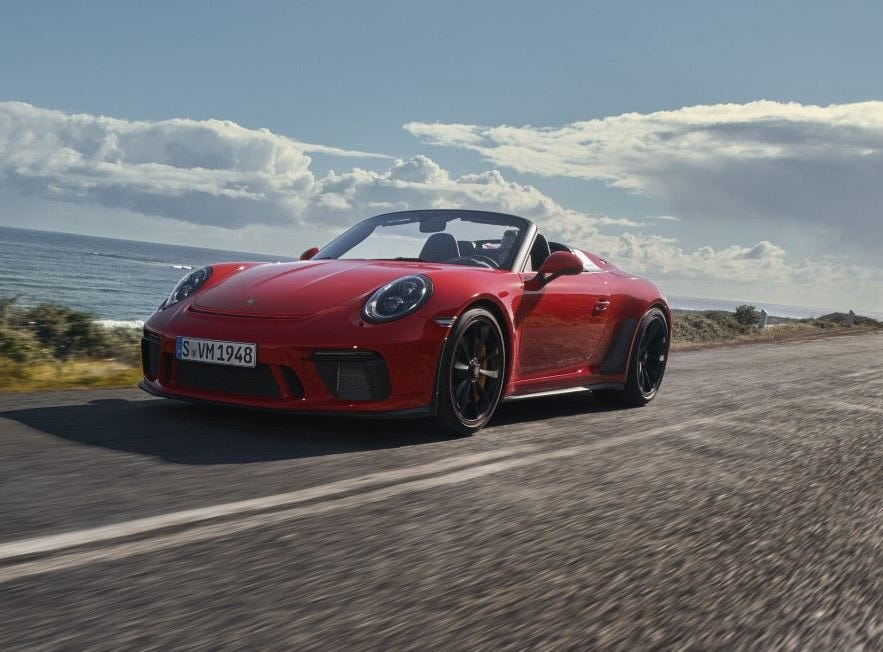 The Speedster uses the same engine as the current 911 GT3 RS, a 4.0-L natural aspirated flat-six.