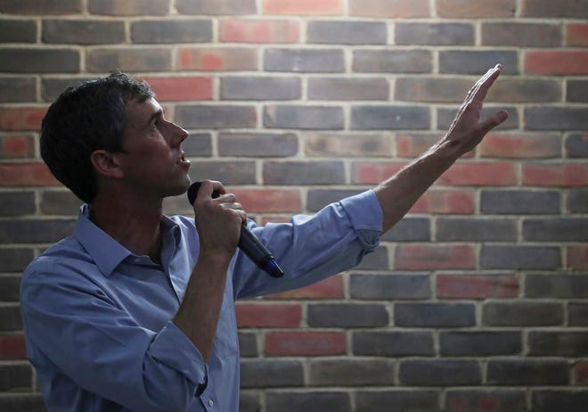 2020 Democratic presidential candidate Beto O'Rourke speaks to students at the University of Virginia in Charlottesville during his last stop on a tour which saw him visit multiple cities in the state.