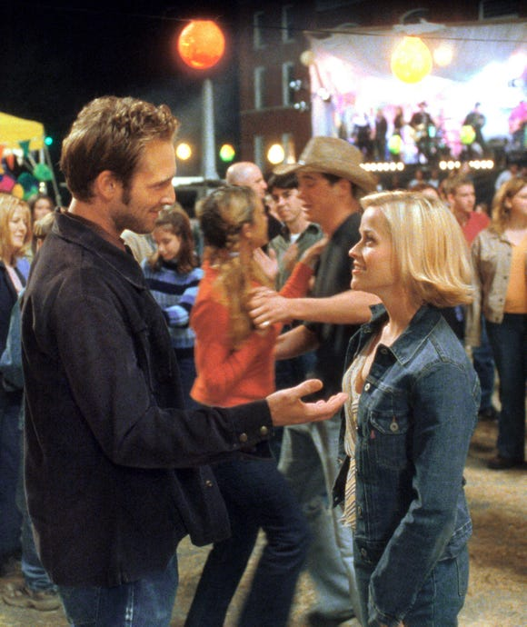 "Josh Lucas and Reese Witherspoon in a scene from ""Sweet Home Alabama."""