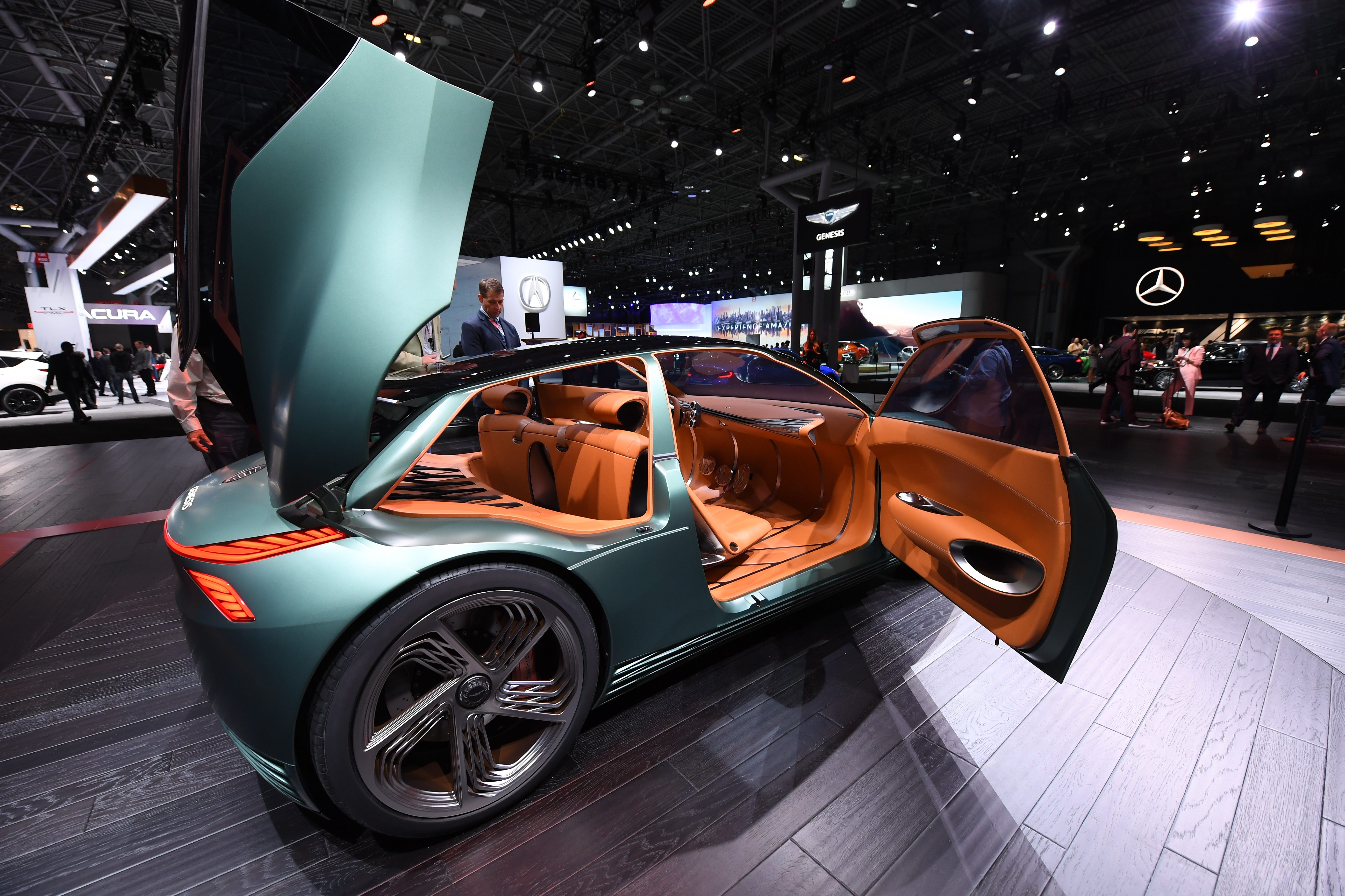 Genesis Mint on display at the New York International Auto Show.