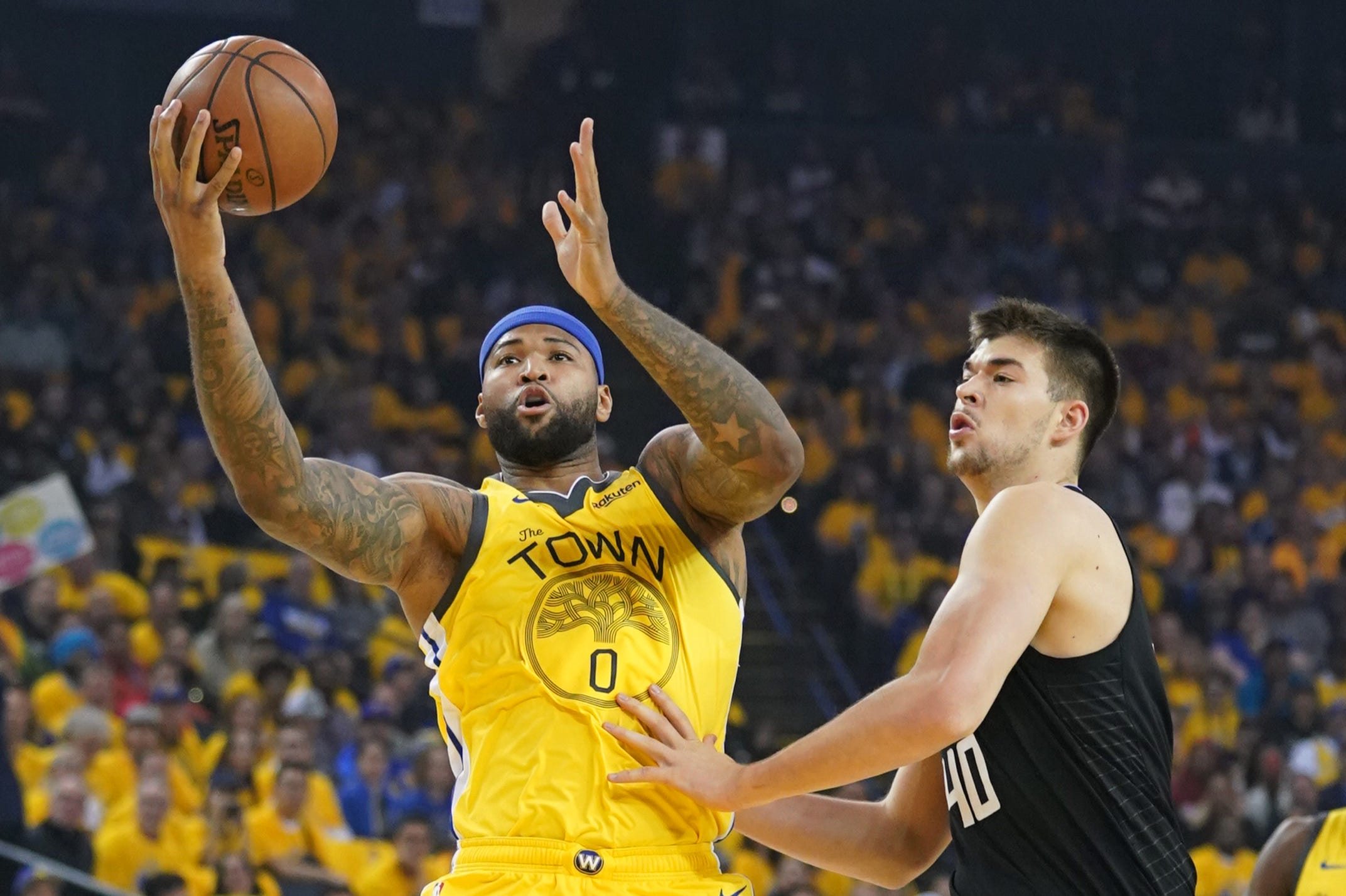 Warriors star DeMarcus Cousins won't need surgery on torn left quad, but unlikely to return for NBA playoffs