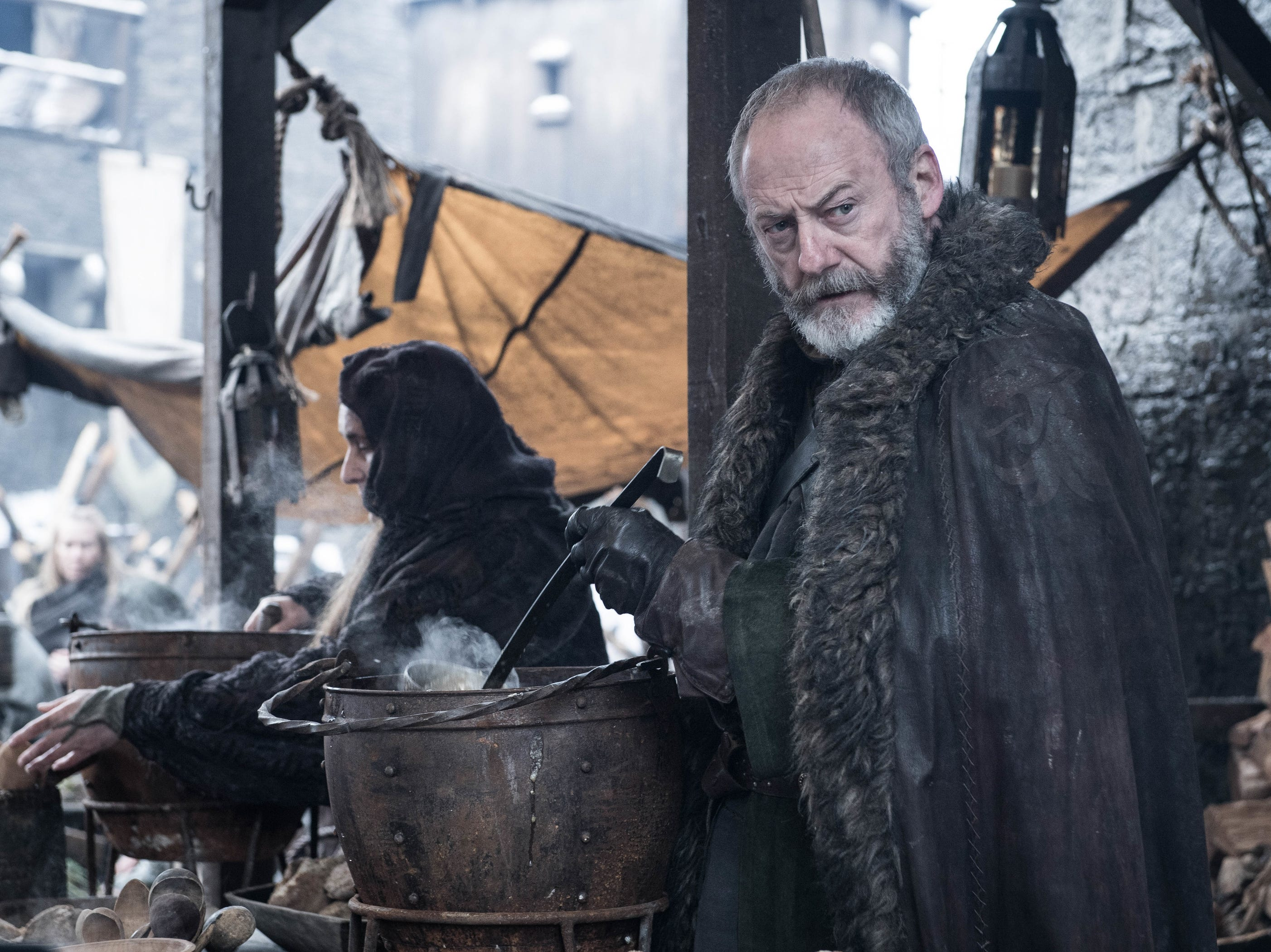 "Liam Cunningham as Davos Seaworth on ""Game of Thrones."""