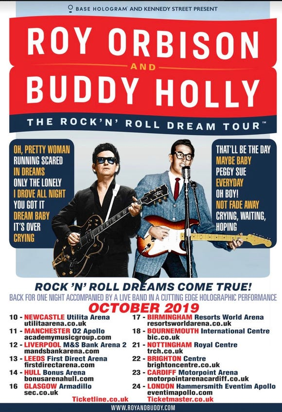 Roy Orbison and Buddy Holly on tour