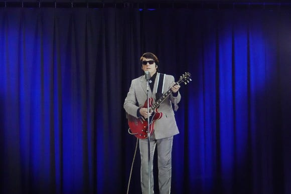 The ghost of Roy Orbison on stage