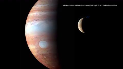 Jupiter's moon Io has tides like Earth, except they're solid rock