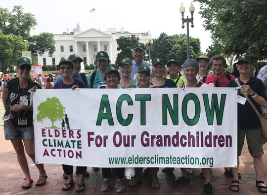 Elders Climate Action, a national non-profit that works to educate and engage older people in fighting climate change, takes part in the 2017 Peoples Climate March on Washington, D.C.