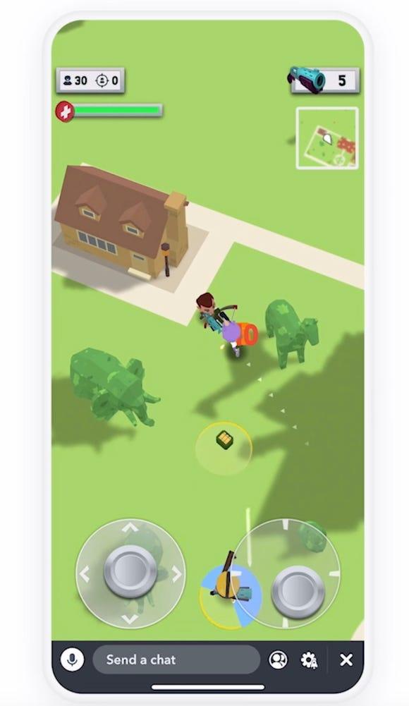 Zynga's Tiny Royale game for Snapchat