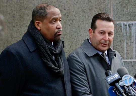 Harvey Weinstein's attorneys Ronald Sullivan, left, and Jose Baez, Jan. 25, 2019, in New York.