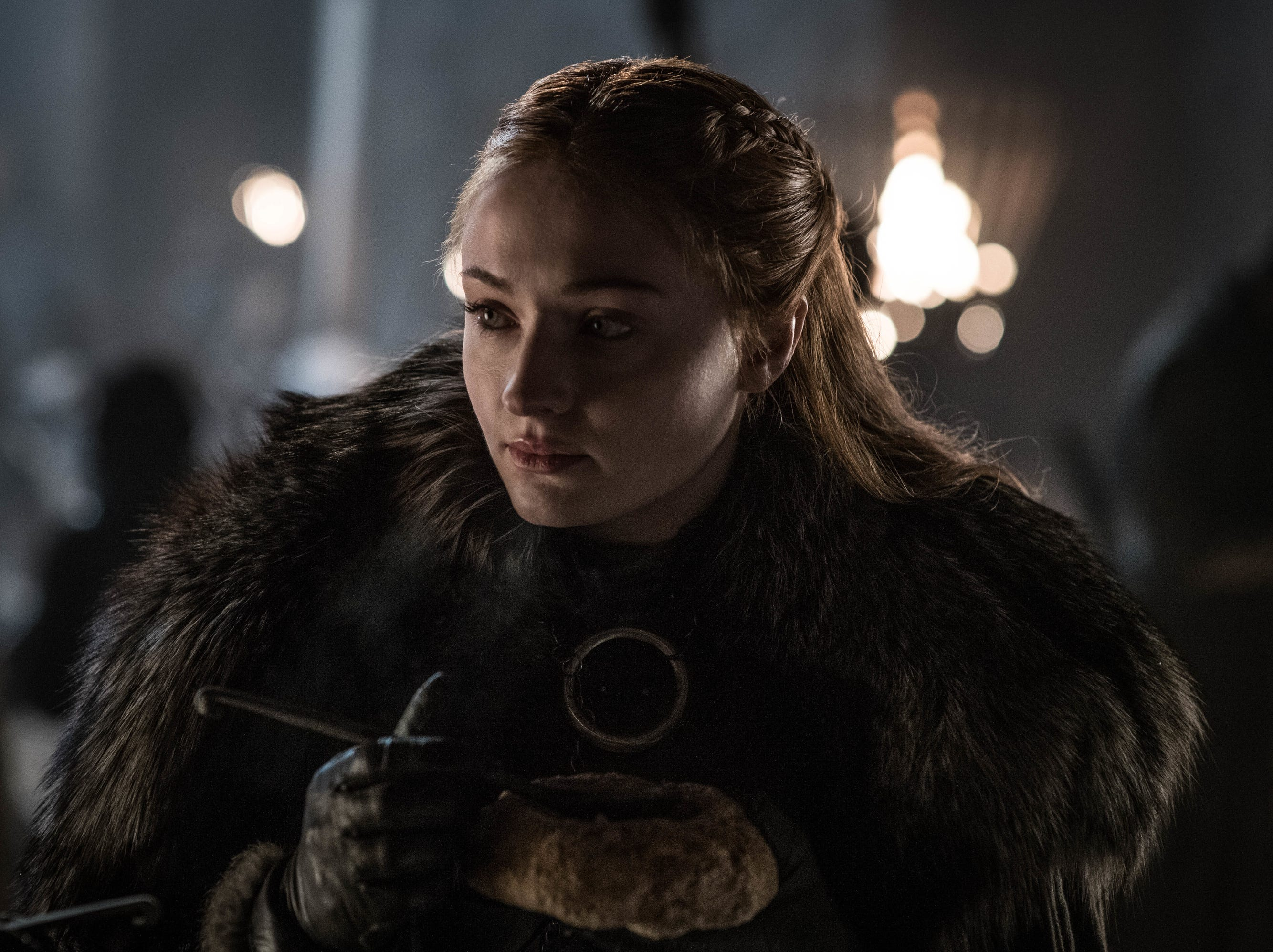 "Sophie Turner as Sansa Stark on ""Game of Thrones."""