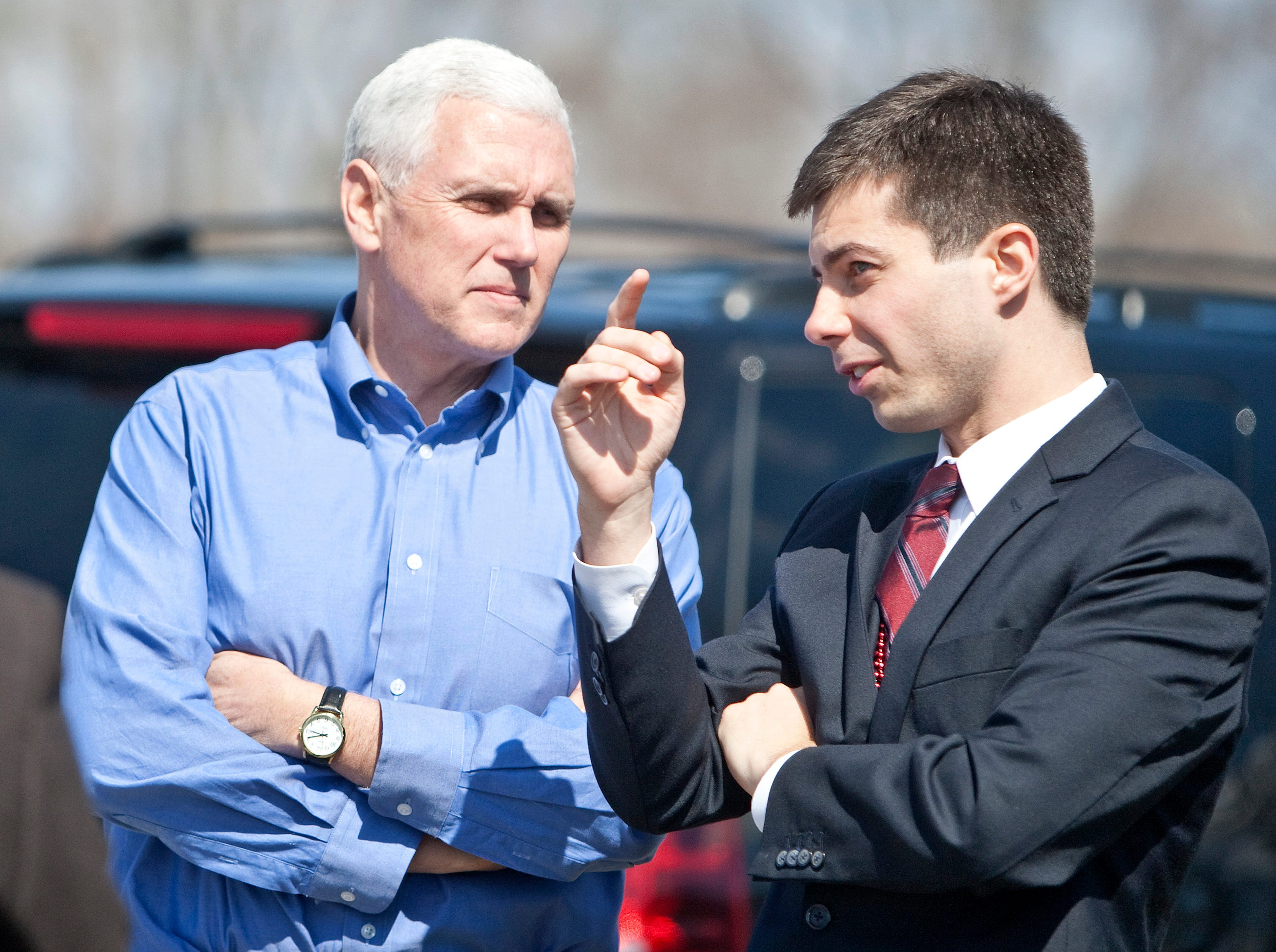 The 'weird parallels' between Mike Pence and presidential hopeful Pete Buttigieg