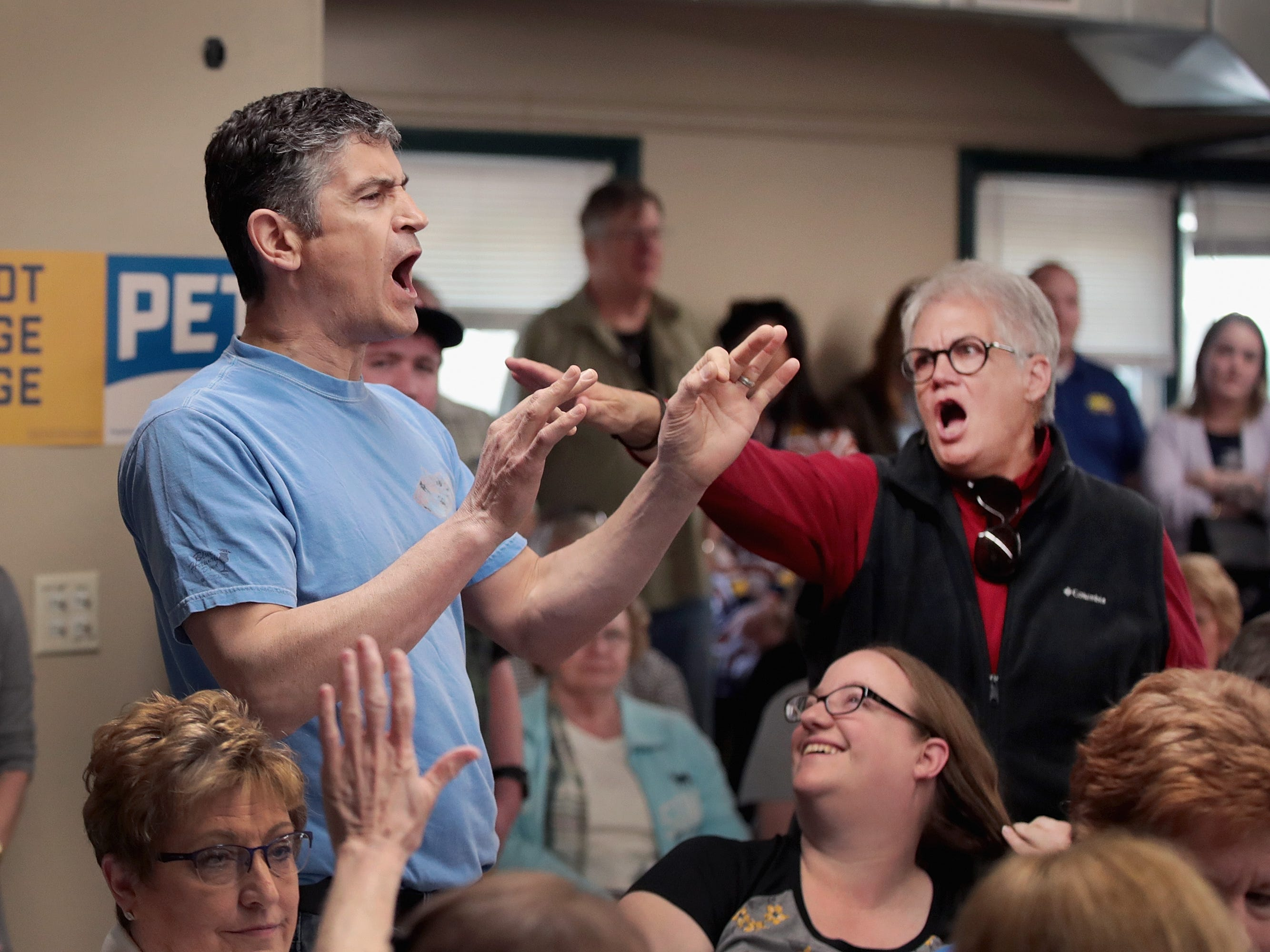 How Pete Buttigieg handled anti-gay protesters shouting about Sodom and Gomorrah at Iowa rally