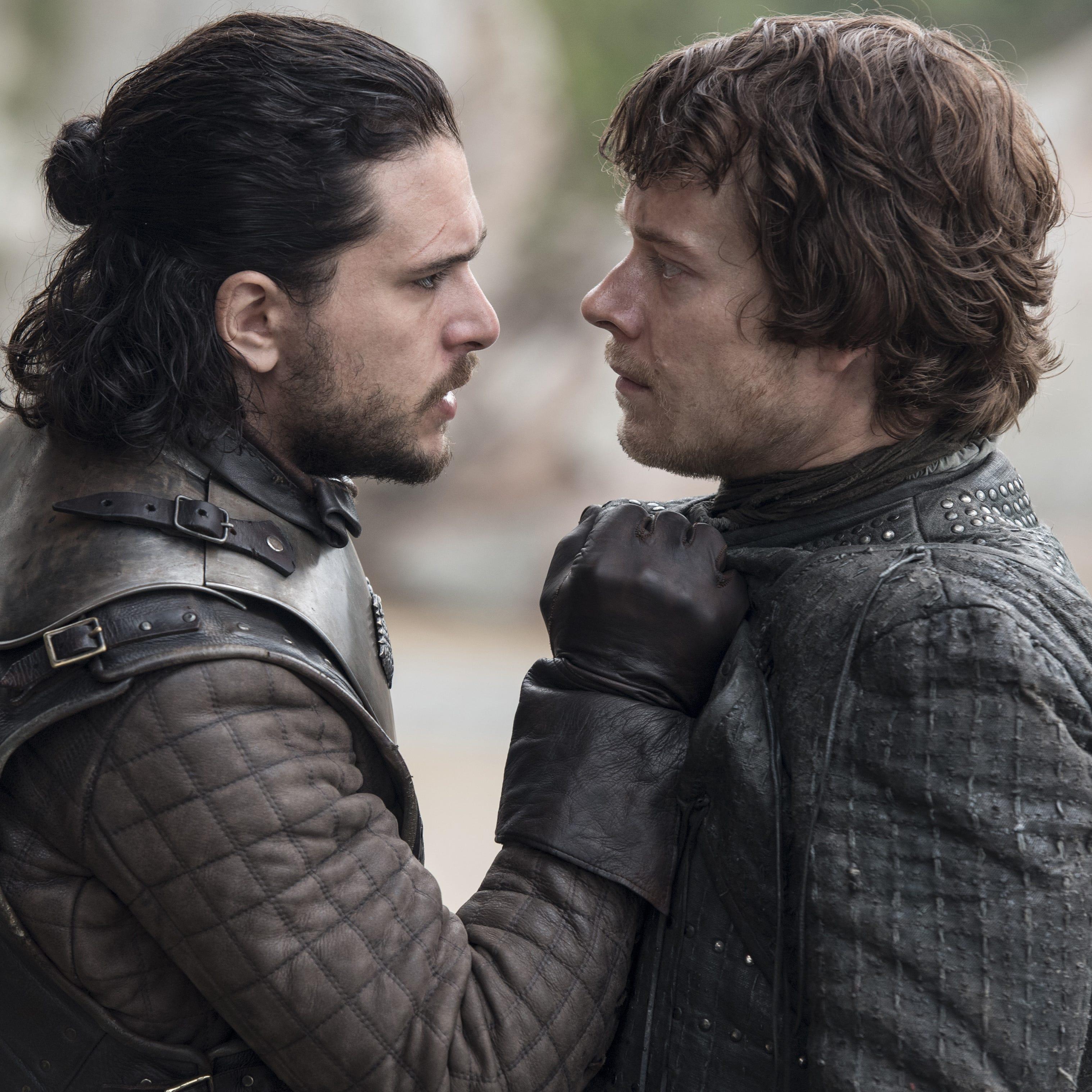 """Kit Harrington, left, and Alfie Allen in HBO's """"Game of Thrones."""""""