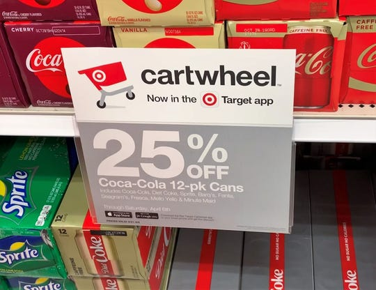 Cartwheel offers change regularly and sometimes are posted around stores. But to find offers, shoppers should scan product barcodes.