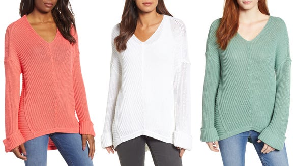 This lightweight sweater is perfect for chilly spring nights.