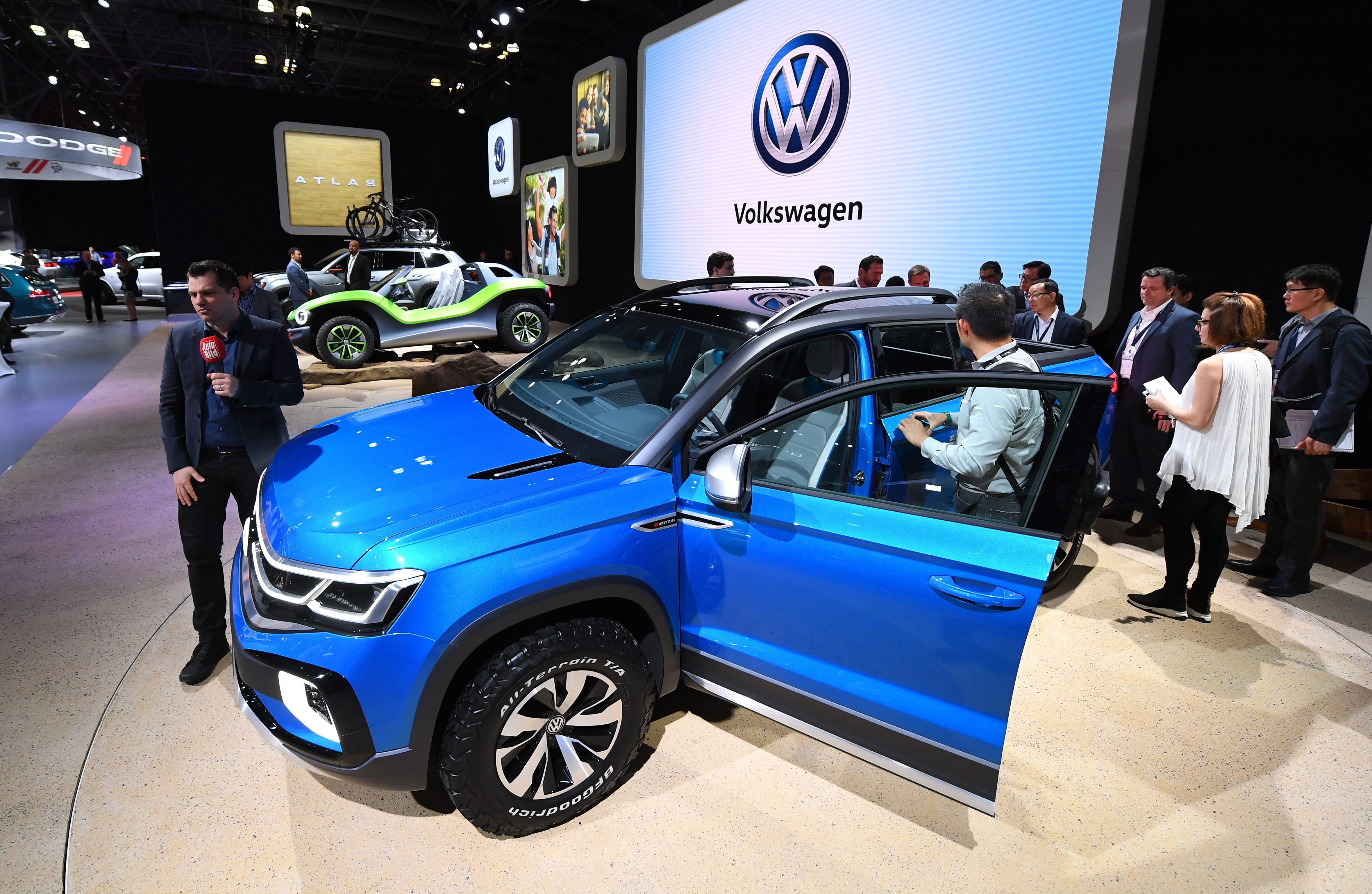 VW Tarok pickup concept on display at the New York International Auto Show.