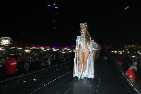 Beyonce's fierce opening costume look from Weekend 2 at Coachella.