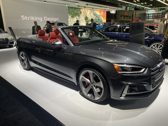 The 2018 Audi S5 Cabriolet is the convertible variant of the company's compact-luxury platform.