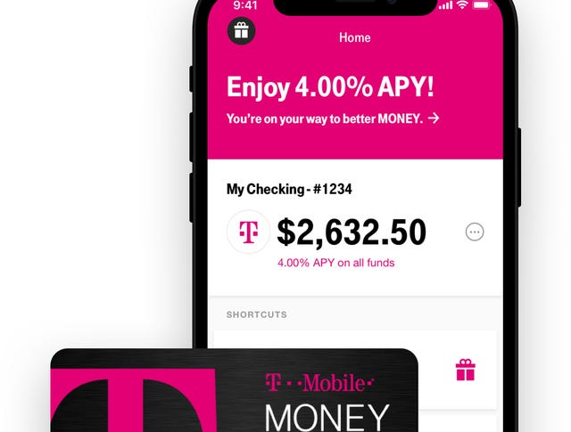 T-Mobile checking account offers 4% interest and no fees