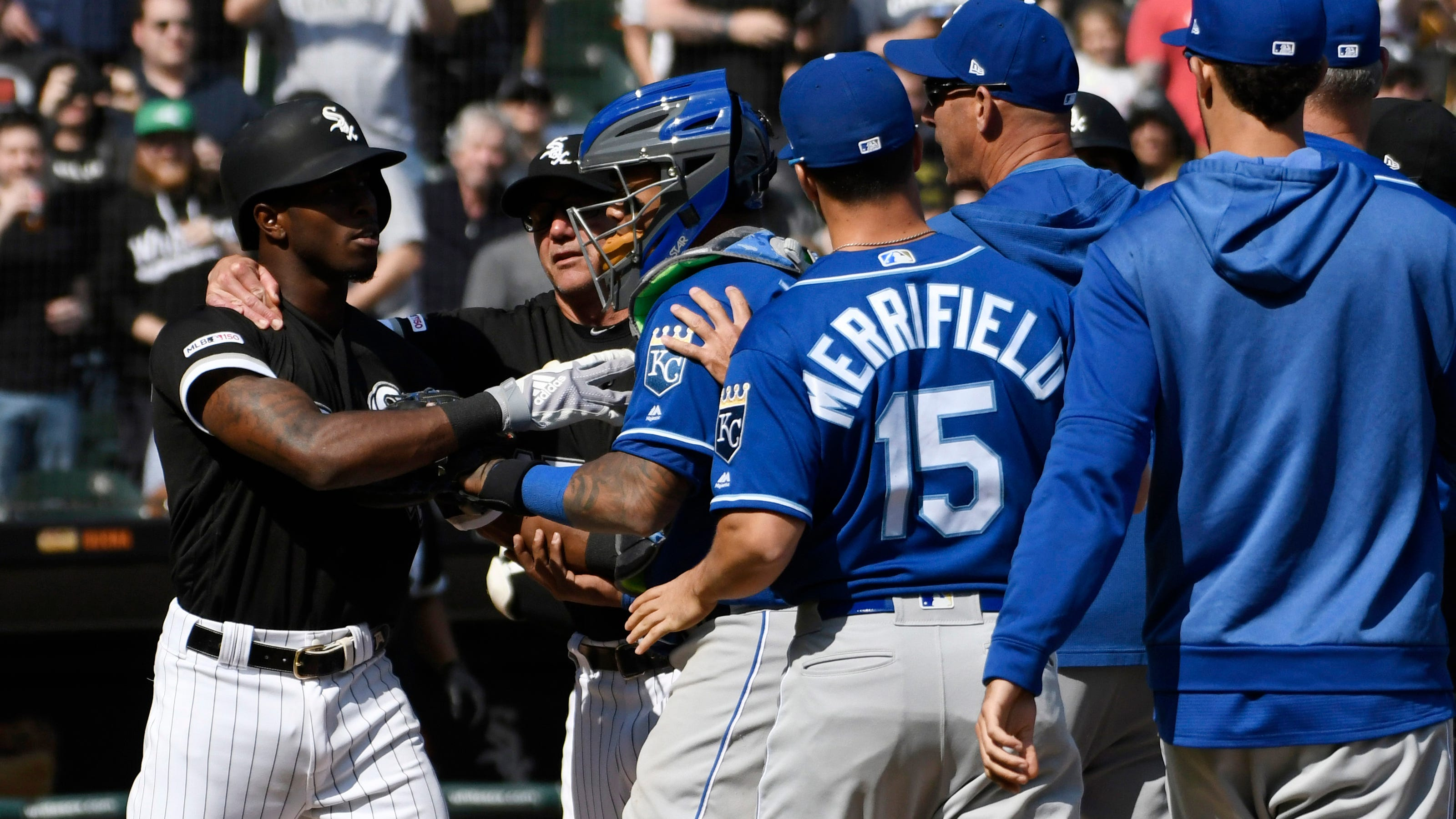 Groovy White Sox Royals Fight Tim Anderson Brad Keller Suspended Onthecornerstone Fun Painted Chair Ideas Images Onthecornerstoneorg