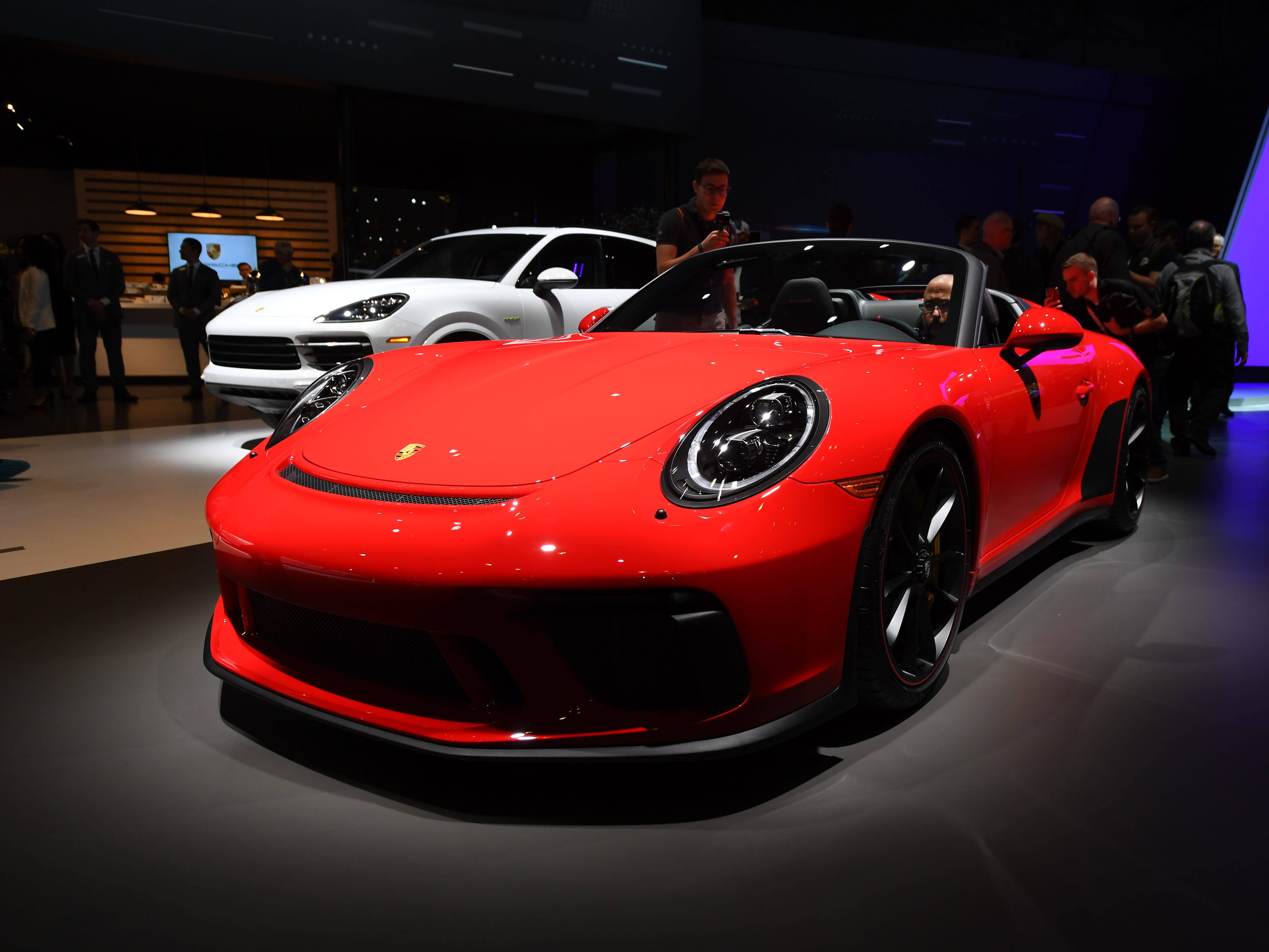 Porsche 911 Speedster on display at the New York Auto Show.