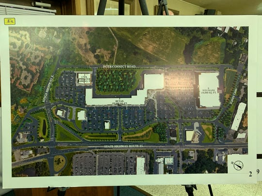 A picture of the site plan for the Shoppes at Middletown.