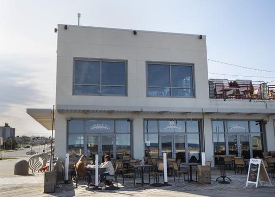 Eating area ouside of restaurant on the boardwalk. Joseph Cetrulo owns Stella Marina Bar & Restaurant in Asbury Park. Photos taken 4/17/19 in Asbury Park.