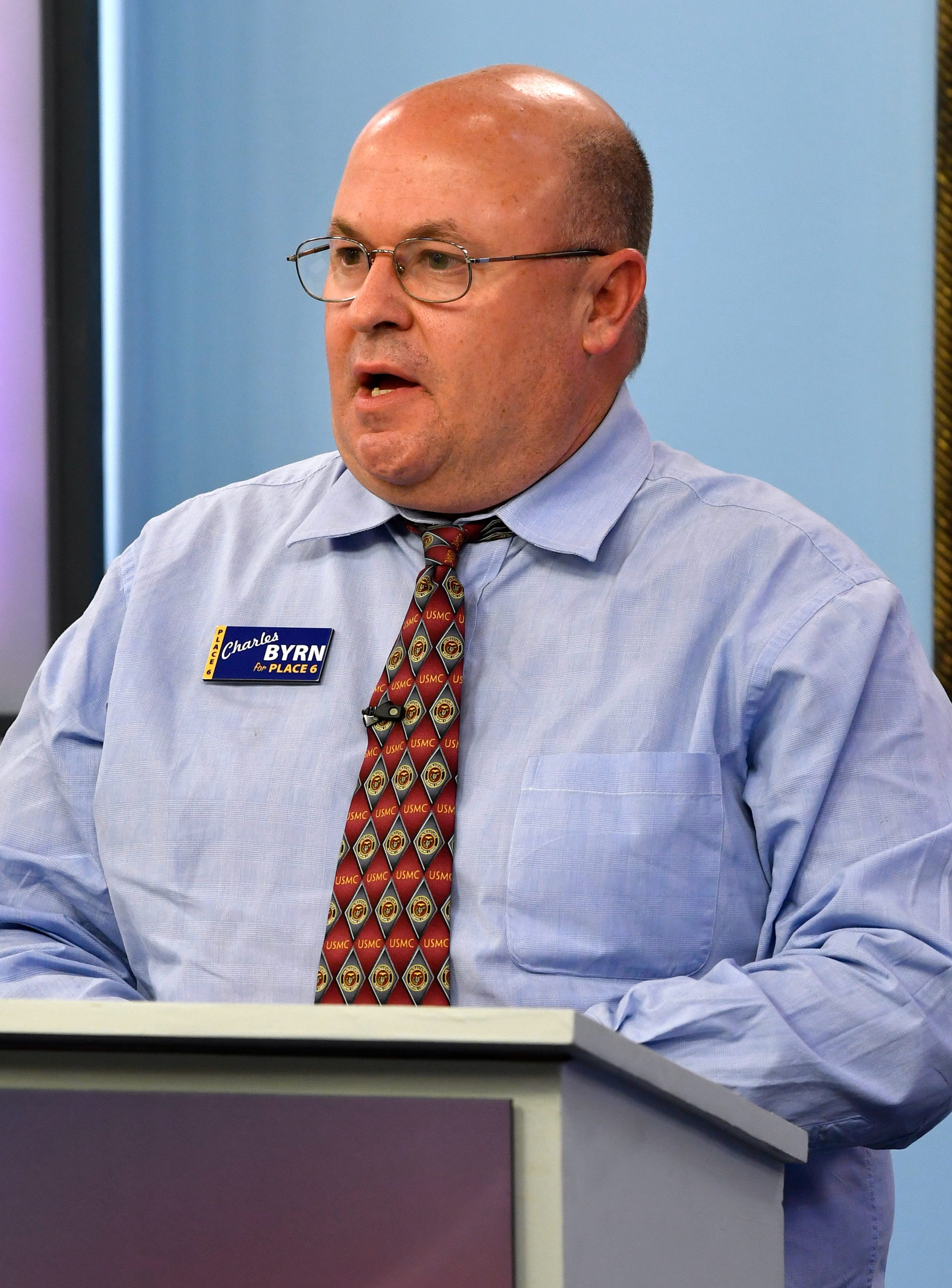 Place 6 Abilene City Council candidate Charles Byrn during Monday's debate.