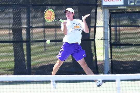 Wylie's Lane Adkins will complete his high school tennis career at the Class 5A state tournament in College Station starting on Thursday. Adkins decided against playing collegiate tennis in favor of academics and his future career.