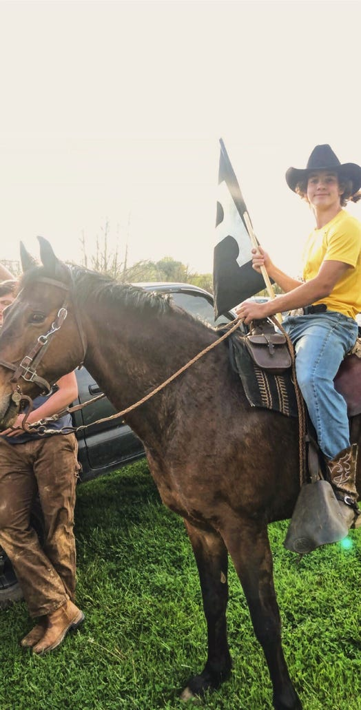 Coleman Cothern and his horse Coyote