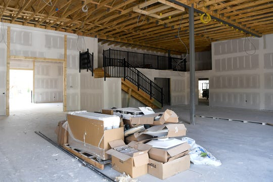 Construction is ongoing in a building at the base of the property of the Black Mountain Home for Children, Youth and Families on April 18, 2019. The building will be a thrift store and coffee shop benefitting the home.