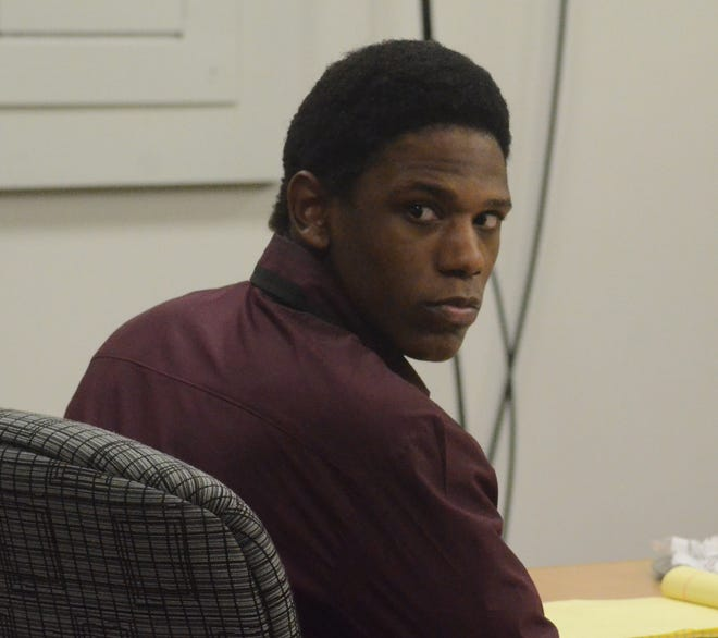 Davion Brown in court on Thursday.