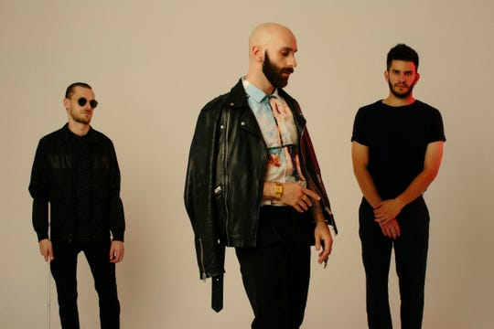 The members of X Ambassadors are, from left, Casey Harris, Sam Harris and Adam Levin.