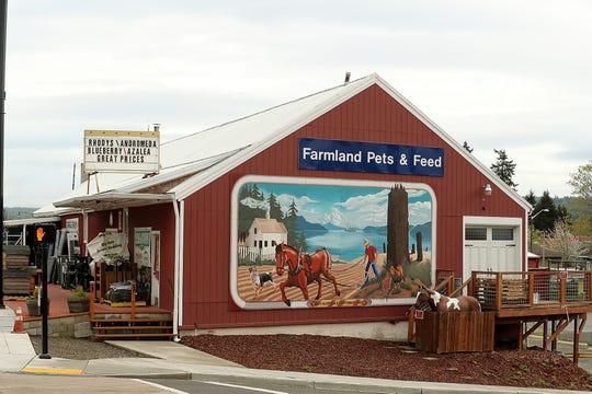 Farmland in Silverdale on Thursday, April 17, 2019.