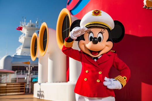 dd935523 Captain Minnie Mouse is delighting children aboard all Disney Cruise Line  ships, spreading the message