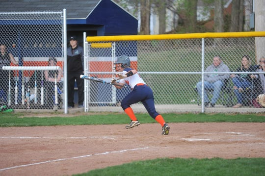 Nicole Thomas was always reliable in the outfield.