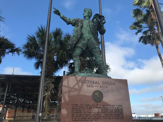 The Port of Corpus Christi plans to keep its statue of Christopher Columbus in storage while it constructs its new headquarters building.