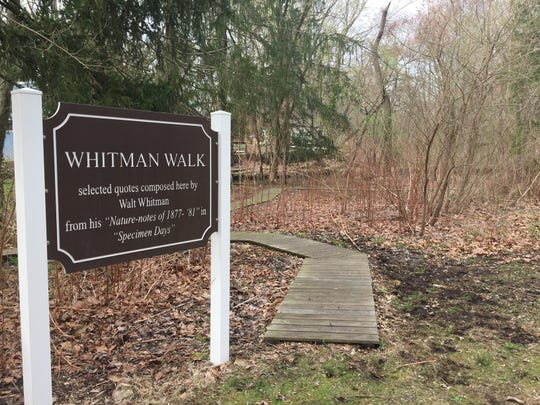 Whitman Walk at Historic Crystal Springs offers a place to commune with nature while contemplating the words and life of Walt Whitman. The Laurel Springs park houses a spring Whitman visited often.