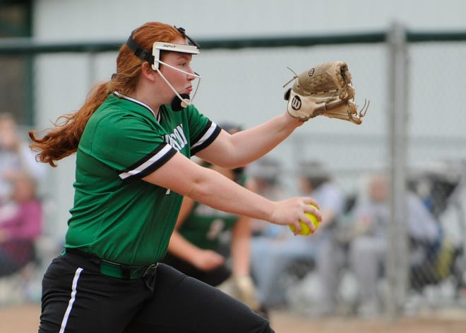 Kylee Kellough was the winning pitcher for Huntington in an 8-0 win over Unioto last week, good enough for an athlete of the week nomination.
