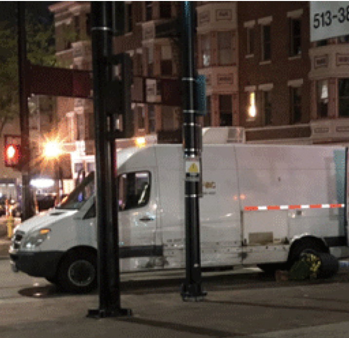 Utility worker's leg severed in hit-skip crash in downtown Cincinnati