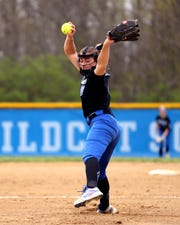 Williamsburg pitcher Madi Ogden fires a fast ball to the plate.
