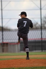 Lakota East senior Grayson Hamilton threw a perfect game in an 8-0 victory over Princeton. He struck out 12 to improve to 5-0 on the year.