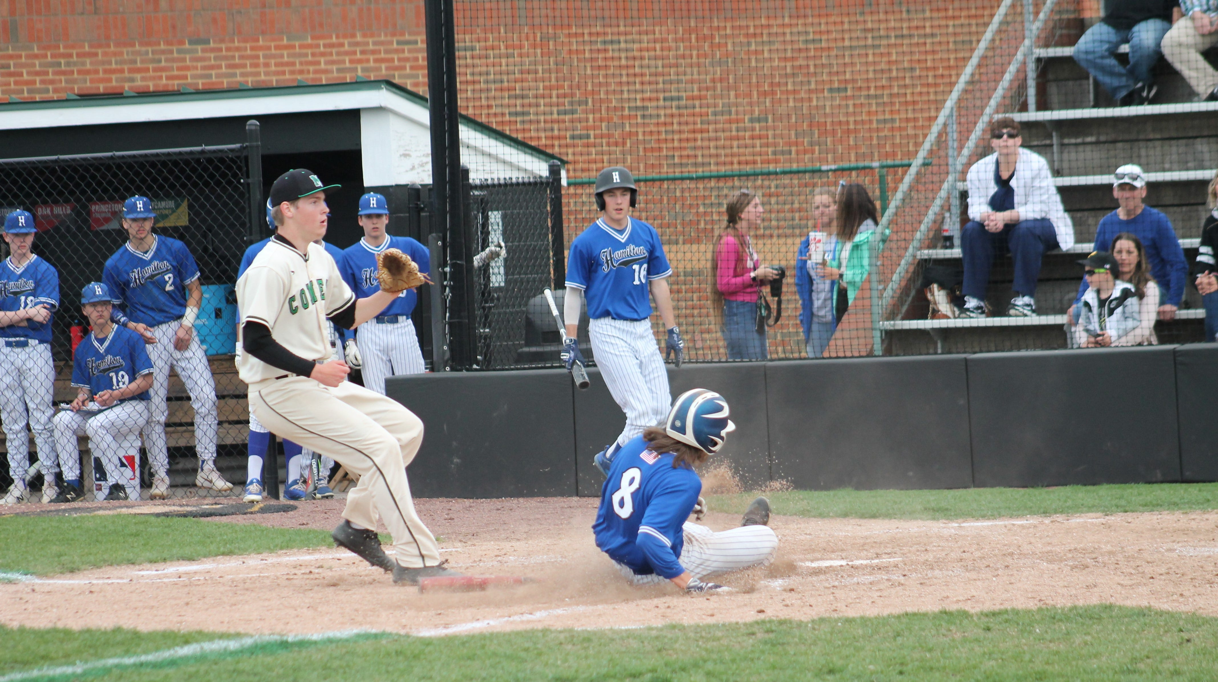 Mason baseball defeats Hamilton 8-4 April 17