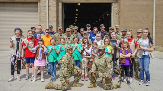 Girl Scouts of Middle Tennessee delivered 70,000 boxes of Girl Scout Cookies to Fort Campbell on Friday, April 12, 2019.