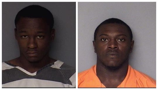 Anthony Jerome Jones of Georgia and Frederick Edward Gordon II of Kentucky shown in their Dallas County Jail mugshots. The two were arrested after a high-speed chase in central Iowa and were wanted for warrants in other states.