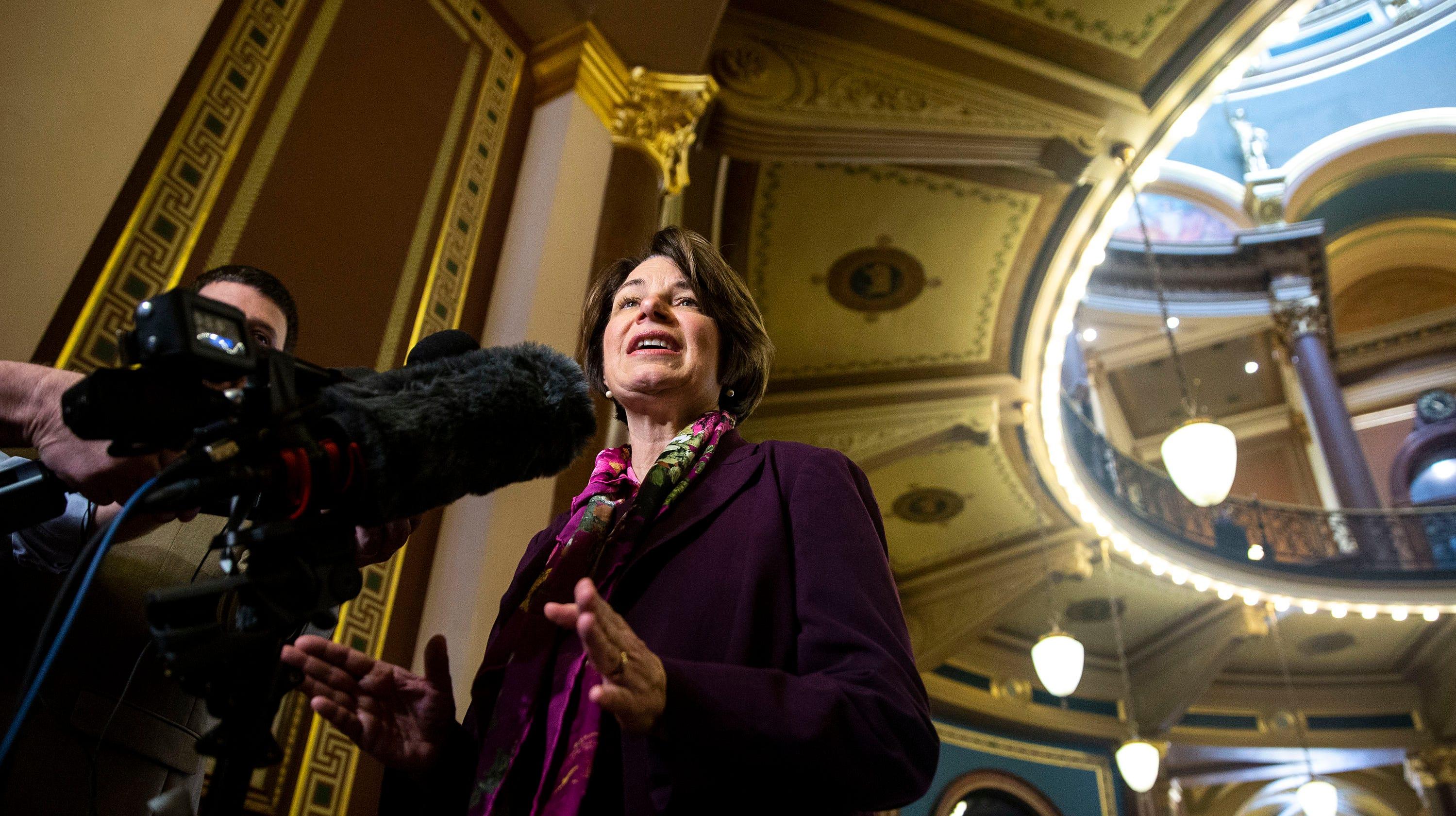 Photos: Amy Klobuchar visits the Iowa Capitol