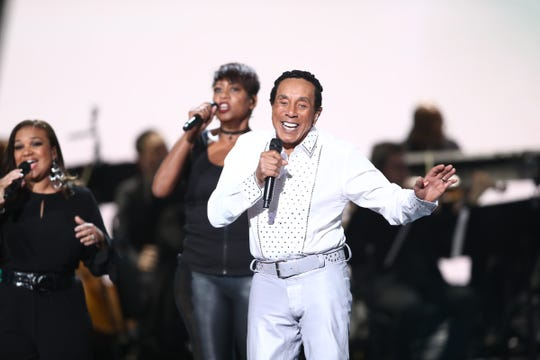LOS ANGELES, CA - FEBRUARY 12:  Smokey Robinson performs Motown 60: A GRAMMY Celebration at Microsoft Theater on February 12, 2019 in Los Angeles, California.