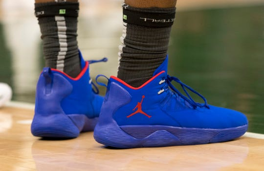 Shoes worn by Andre Drummond during Game 2 of the playoffs April 17 in Milwaukee.